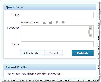 QuickPress เขียนบทความด่วน